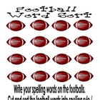 Spelling Assignment for Any List- Football Word Sort