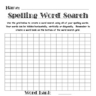 Spelling Assignment for Any List- Word Search