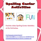 Spelling Center Games Video