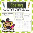Spelling Connect the Dots Printable Game Partner Activity