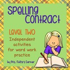 Spelling Contract 2:  Harder