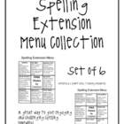 Spelling Extension Menu Collection, Set of 6