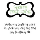 Spelling Flash Card Template {Free Download}