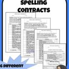 Spelling  Homework (6 Differentiated Contracts Including a
