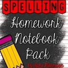 Spelling Homework Organization Pack