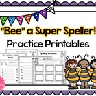 Spelling Practice Printables~ Sentences, Rainbow Words, AB