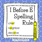 Spelling Rules-- I Before E Rule