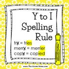 Spelling Rules-- Y to I Rule