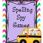 Spelling Spy Games