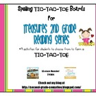 Spelling TIC TAC TOE Choice Boards for Second Grade Treasu