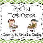 Spelling Task Cards {Colorful Chevron}