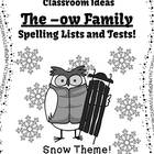 Spelling The -ow Family Word Work Lists & Tests