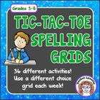 Spelling Tic-Tac-Toe Choice Grids - 36 Activities for Any List!