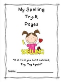 Spelling Try-It Pages