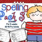 Spelling & Writing Activities 5 Weeks Pack 3 {Fry's 60-90