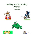 Spelling and Vocabulary Practice - Volume One, Activities