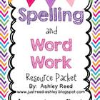 Spelling and Word Work Resource Packet