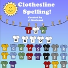 Spelling/Making Words for the Smartboard-T-shirts and Clothesline