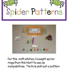 Spider Patterns and Addition Math Station