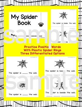 Spider Position Words Student Reader