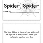 Spider, Spider Math Multiplication Book