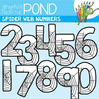 Halloween Clipart - Spider Web Numbers