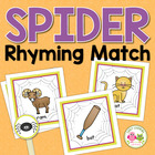 Spider Web Rhyming Clip Cards:  Rhyming Activity for Early