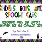 Spiders, Bats, & Spooky Cats {Math and Literacy Activities