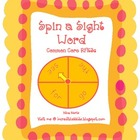 Spin A Sight Word - Working with Words Literacy Station