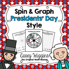 Spin & Graph: President's Day (Bar Graph, Tally Chart, Lin