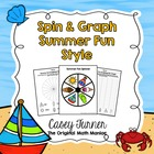 Spin & Graph: Summer Fun (Bar Graph, Tally Chart, Line Plo