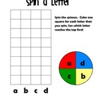 Spin and Graph: alphabet letters, Literacy Center