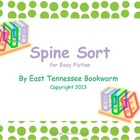 Spine Sort - Easy Fiction