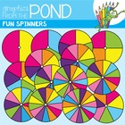 Spinners Clipart - Fun Set of Circle Spinners!