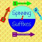Spinning Suffixes Word Work SMARTBoard