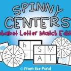 Spinny Centers - Alphabet Match - Centers to Make from DVDs