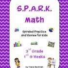 Spiraled STAAR/CCSS Math Review for 3rd Grade - 1st 9 Weeks