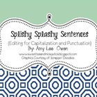 Splishy Splashy Sentences (Sentence Editing)