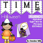 Spooktacular Halloween Time Me!  Editable  Alphabet, Word,