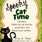 Spooky Cat Time-  Telling time to the hour