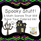 Spooky Math~ Ink Saving Math Centers!