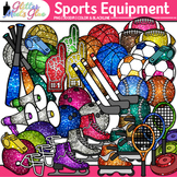 Sports Equipment Variety Pack Clipart - Baseball Basketbal