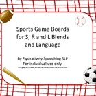 Sports Game Boards for S, L and R Blends and Language