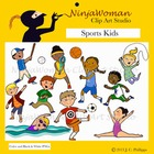 Sports Kids Clip Art