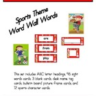 Sports Theme Word Wall Words