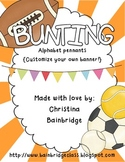 Sports Themed Buntings- Customize Your Own Banner!