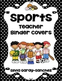 Sports Themed Teacher Binder Covers
