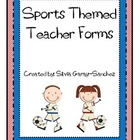 Sports Themed Teacher Forms