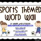 Sports Themed Word Wall and Alphabet
