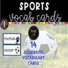 Sports Word Cards ~ Polka Dot ~  Word Wall or Writing Center